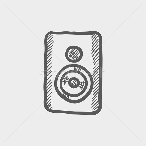 Two way studio speaker sketch icon Stock photo © RAStudio