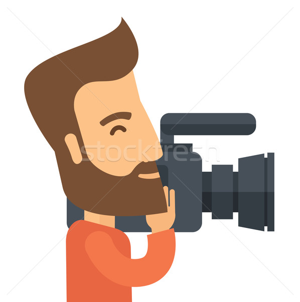 Videographer with his video camcorder Stock photo © RAStudio