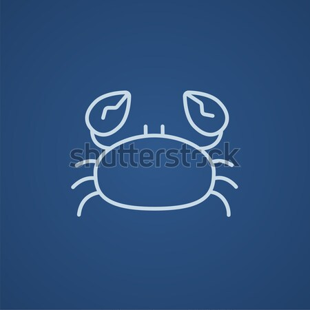 Crab line icon. Stock photo © RAStudio
