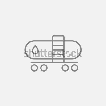 Oleju zbiornika line ikona internetowych komórkowych Zdjęcia stock © RAStudio