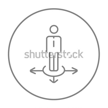 Businessman in three ways line icon. Stock photo © RAStudio