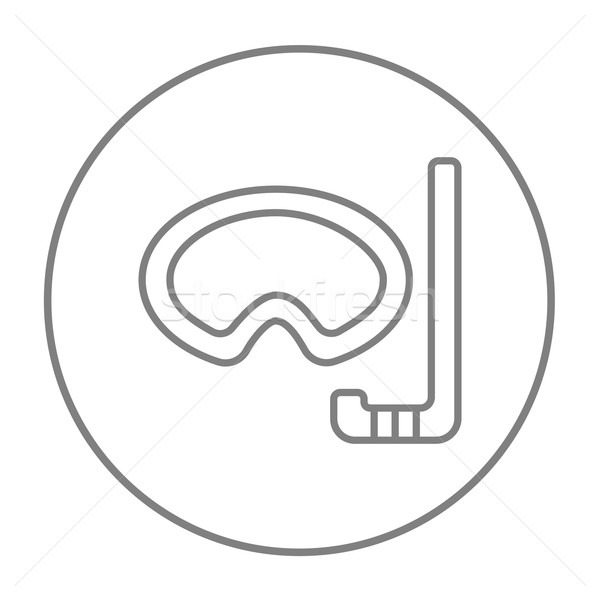 Mask and snorkel line icon. Stock photo © RAStudio