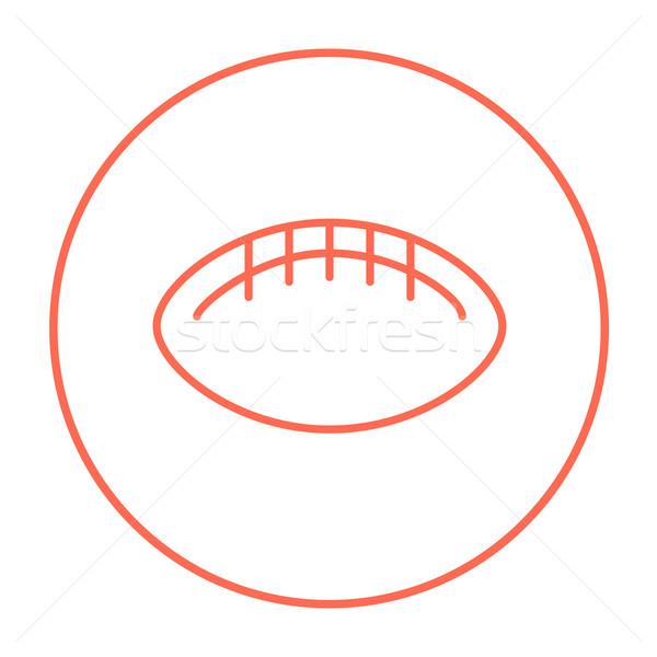 Rugby fútbol pelota línea icono web Foto stock © RAStudio