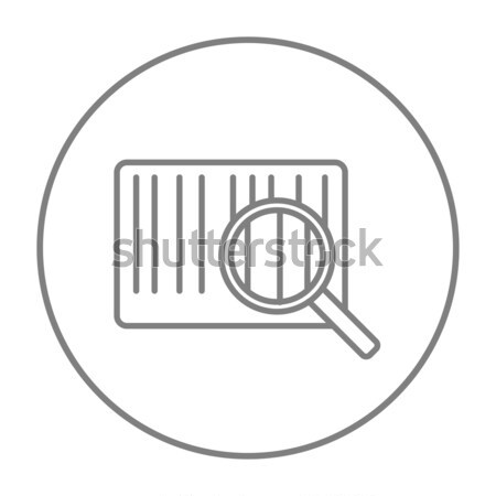 Loupe Barcode ligne icône web mobiles Photo stock © RAStudio