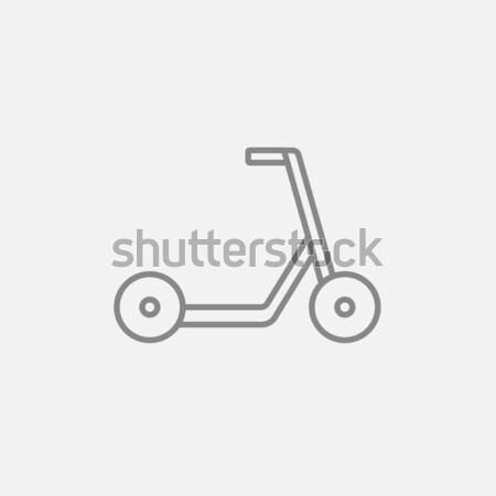 Rúgás moped vonal ikon háló mobil Stock fotó © RAStudio