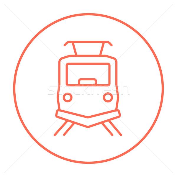 Front view of train line icon. Stock photo © RAStudio