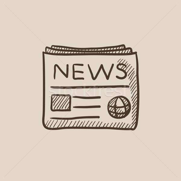 Periódico boceto icono web móviles infografía Foto stock © RAStudio
