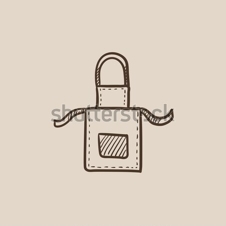 Kitchen apron line icon. Stock photo © RAStudio