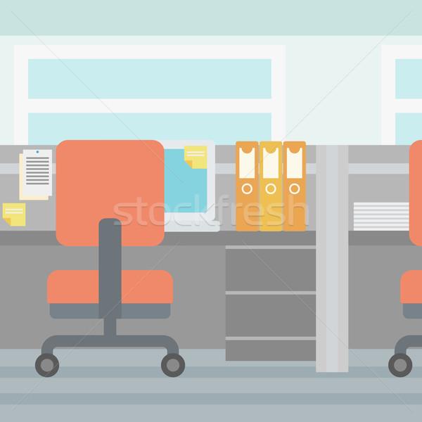Bureau travail vide vecteur design illustration Photo stock © RAStudio
