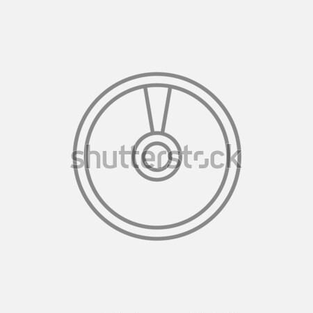 Disk kroki ikon vektör yalıtılmış Stok fotoğraf © RAStudio