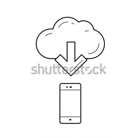 Nube file accesso line icona vettore Foto d'archivio © RAStudio