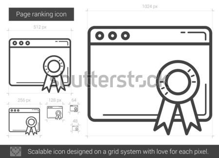 Oldal rangsor vonal ikon vektor izolált Stock fotó © RAStudio