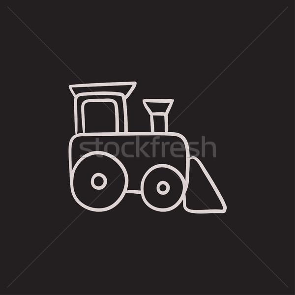 Toy train sketch icon. Stock photo © RAStudio
