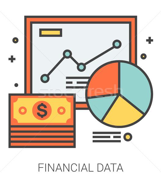 Foto stock: Financeiro · dados · linha · ícones · metáfora