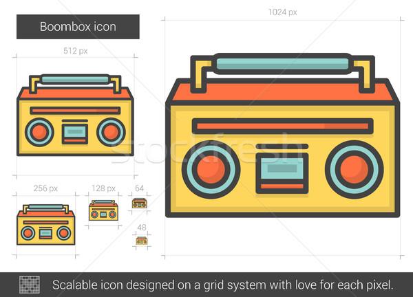 Boombox line icon. Stock photo © RAStudio