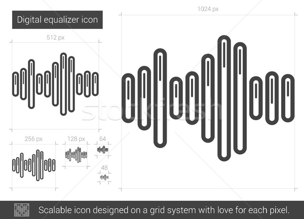 Digital equalizer line icon. Stock photo © RAStudio