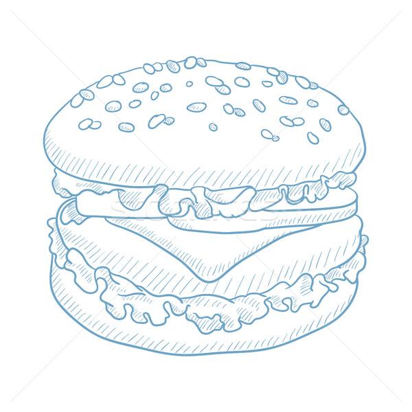 Delicious and appetizing hamburger. Stock photo © RAStudio