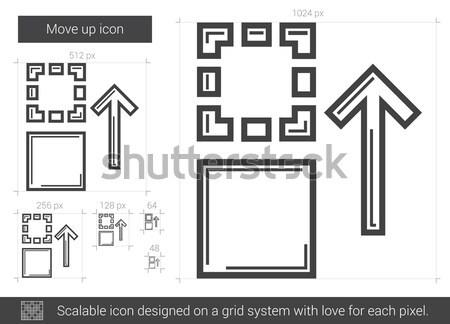 Move up line icon. Stock photo © RAStudio