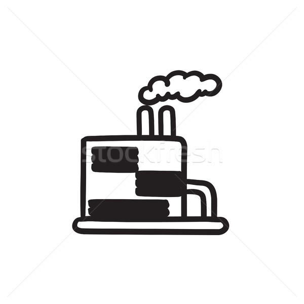 Refinery plant sketch icon. Stock photo © RAStudio