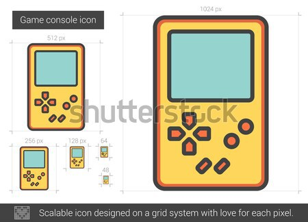 Game console line icon. Stock photo © RAStudio