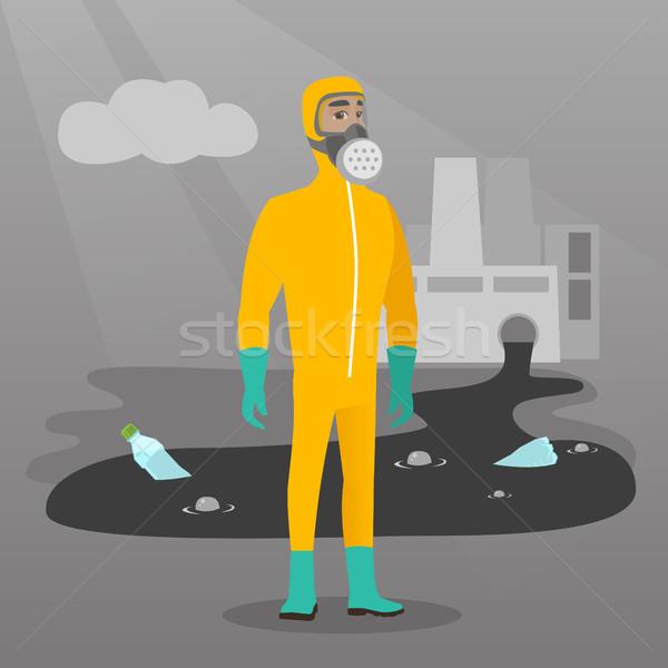 ученого излучение защиту костюм кавказский Сток-фото © RAStudio