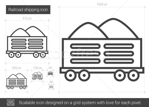 Stock photo: Railroad shipping line icon.
