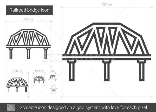 Railroad bridge line icon. Stock photo © RAStudio