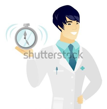 ストックフォト: 小さな · アジア · 医師 · 目覚まし時計 · 医療