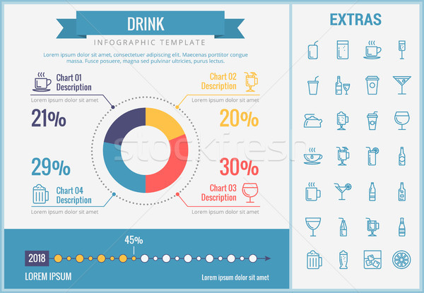 Drink infographic template, elements and icons. Stock photo © RAStudio
