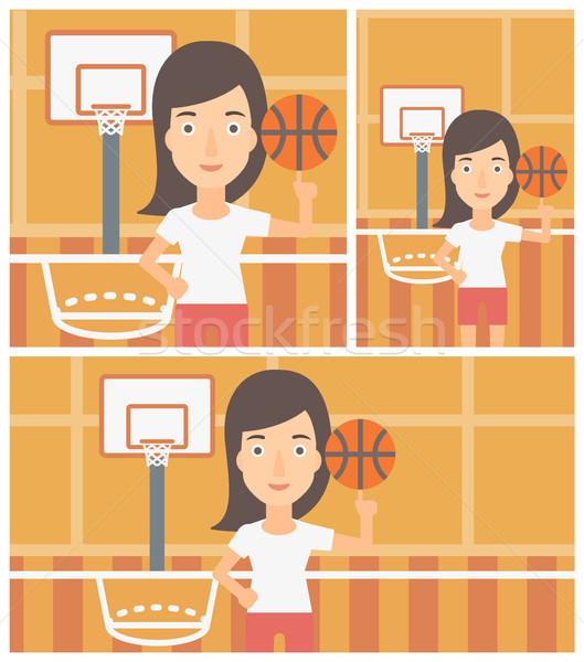 Pelota profesional baloncesto dedo Foto stock © RAStudio