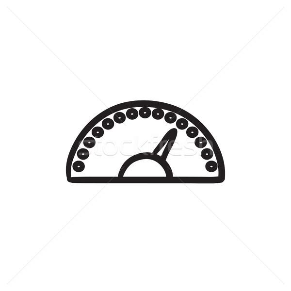 Sebességmérő rajz ikon vektor izolált kézzel rajzolt Stock fotó © RAStudio