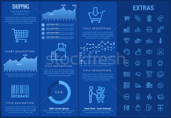 Shopping infographic template, elements and icons. Stock photo © RAStudio