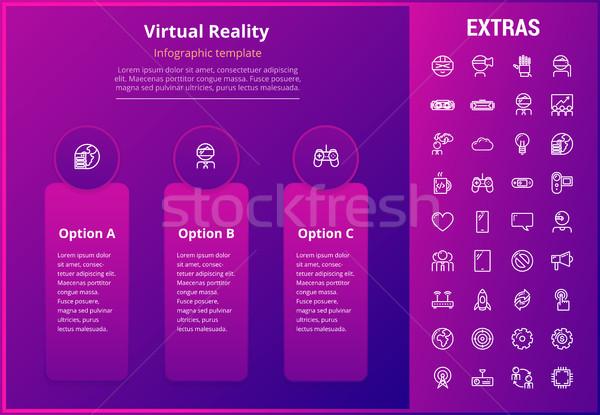 виртуальный реальность шаблон Элементы опции Сток-фото © RAStudio