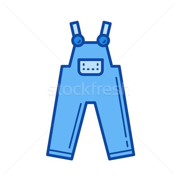 Denim overall line icon. Stock photo © RAStudio