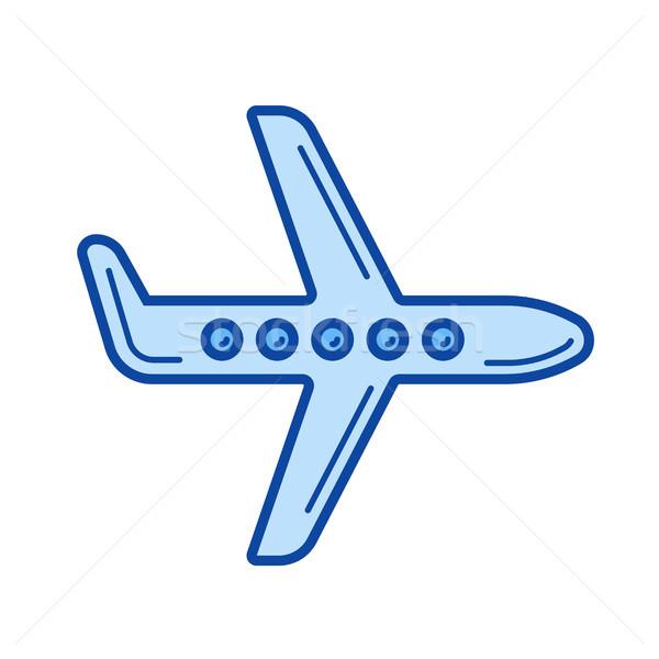 Aeromobili line icona vettore isolato bianco Foto d'archivio © RAStudio