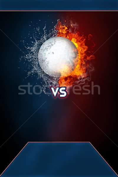 Golf sports tournament modern poster template. Stock photo © RAStudio