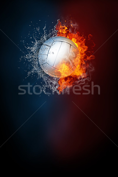 Volleyball sports tournament modern poster template. Stock photo © RAStudio