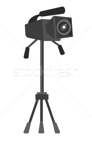 Video camera on the tripod vector illustration. Stock photo © RAStudio