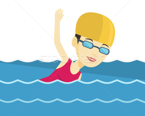 Woman swimming vector illustration. Stock photo © RAStudio