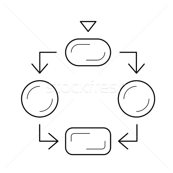 flowchart icon stock vectors  illustrations and cliparts