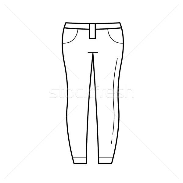 Jeans vector line icon. Stock photo © RAStudio