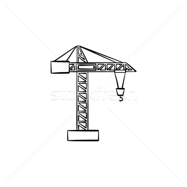 Construção guindaste esboço ícone Foto stock © RAStudio