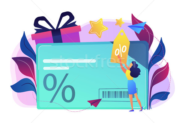 Discount and loyalty card concept vector illustration. Stock photo © RAStudio