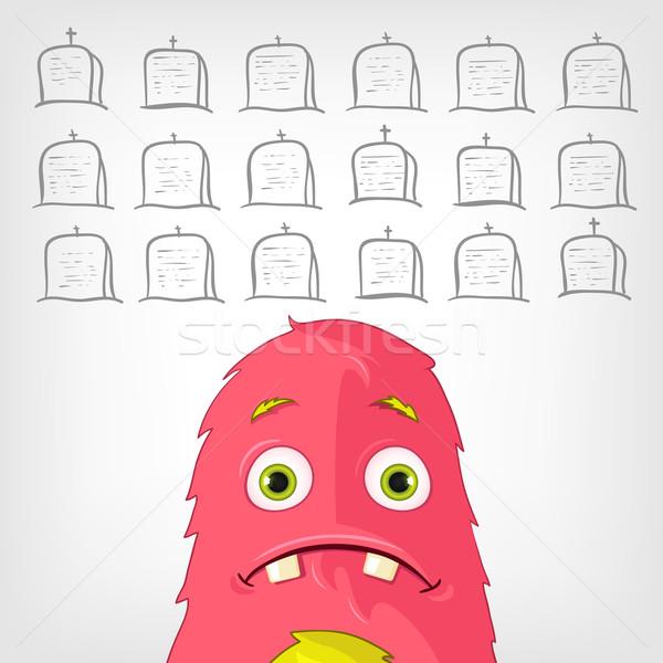 Vicces szörny rajzfilmfigura eps 10 terv Stock fotó © RAStudio