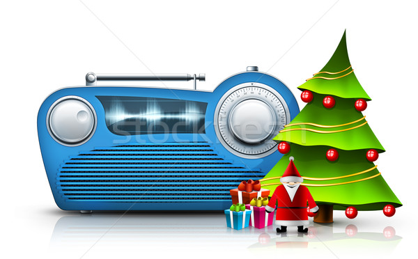 Christmas Radio Stock photo © RAStudio