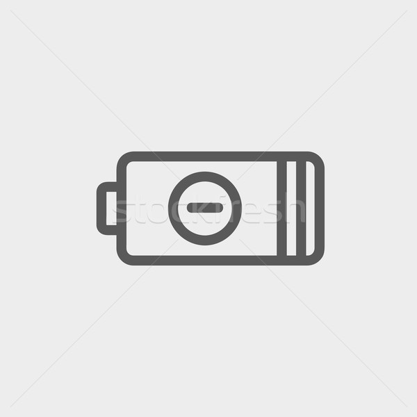 Negative power battery thin line icon Stock photo © RAStudio