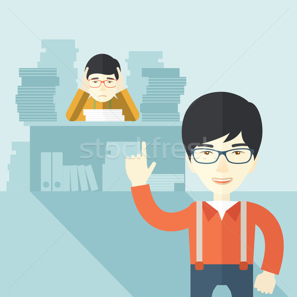 Asia oficina documentos problema cumplir fecha tope Foto stock © RAStudio