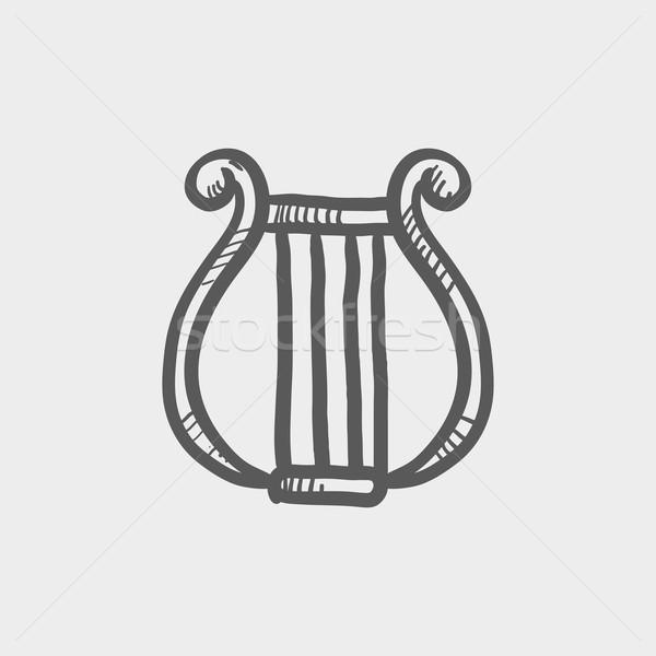 Lyre sketch icon Stock photo © RAStudio