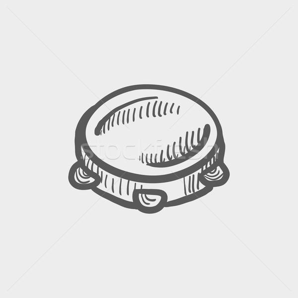 Tambourine sketch icon Stock photo © RAStudio