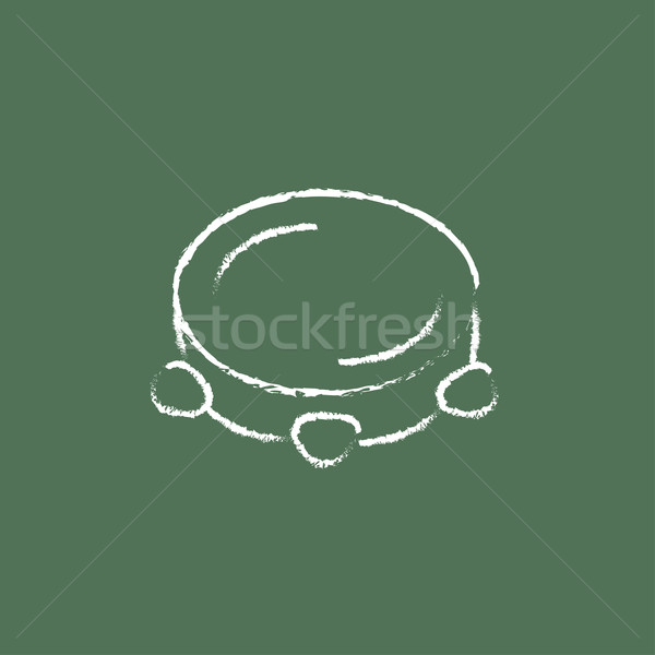 Tambourine icon drawn in chalk. Stock photo © RAStudio